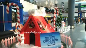 beautiful snoopy theme of christmas decoration at klia2 malaysia