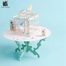 aliexpress com buy birdcage laser cut 3d pop up paper laser cut