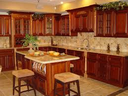 cute cherry kitchen cabinets come with brown color wooden kitchen