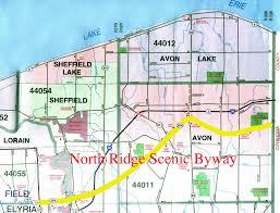 Sandusky Ohio Map by North Ridge Byway Map Avon Ohio U2022 Mappery
