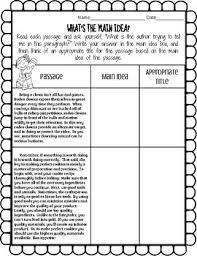 main idea worksheets passages u0026 questions by miss maggie tpt
