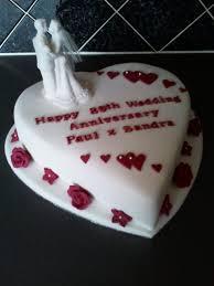 40th wedding anniversary cake designs th diamond wedding