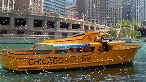 the water taxi will continue to run in chicago into december