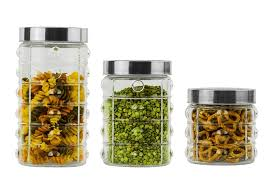 3 kitchen canister set imperial home glass 3 kitchen canister set reviews wayfair