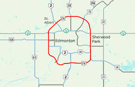 Map Of Edmonton Canada by Anthony Henday Drive Wikipedia