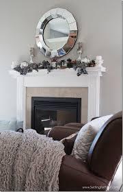 Living Room Mantel Decor Sparkle And Shine Fall Mantel Decor Setting For Four