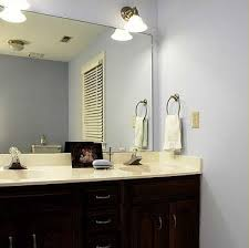 Before  After Bathroom Mirror Makeovers Hooked On Houses - Bathroom sink mirror