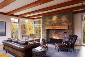 fireplace mantels ideas living room farmhouse with ceiling beams