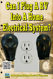 yes you can hook up an rv to electric in the house but rv