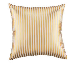 pinstripe pillow gold the land of nod