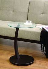 Glass Accent Table Coaster 900256 Round Accent Table With Glass Top And Cappuccino