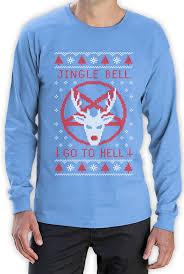 funny ugly christmas sweater jingle go hell long sleeve
