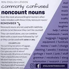 Count And Noncount Nouns Practice Pdf How To Use Commonly Confused Noncount Nouns Correctly