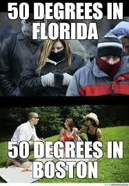 Florida Winter Meme - 50 degrees to willa vs anyone whos ever experienced a real winter