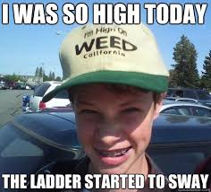Drywall Meme - i was so high today the ladder started to sway stoner luke quickmeme