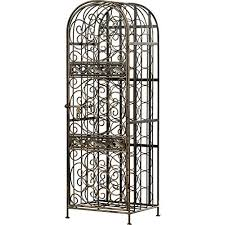 wrought iron wine racks amazon com
