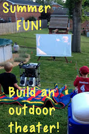 backyard movie screen and projector home outdoor decoration