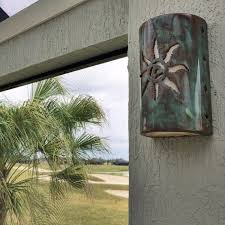 Ceramic Outdoor Wall Sconces Jagged Sun Outdoor Wall Light Southwestern By Customcutlighting