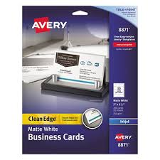 sams club business cards avery 8871 clean edge business cards inkjet white 200 cards