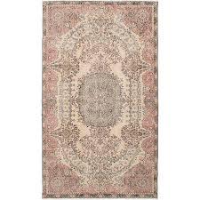 light pink wool rug vintage ivory pink wool rug