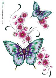3d large temporary sticker bright color butterfly