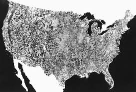 First Map Of United States by Landsat
