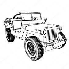 jeep drawing vintage wwii american jeep u2014 stock vector kotkoa 13708080