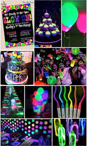 neon party supplies 58 best glow in the sleepover images on birthday