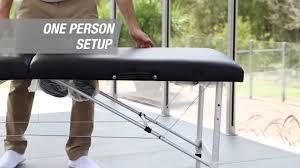 fold up massage table for sale hpf 3 fold portable aluminium massage table youtube