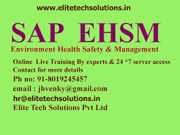 sap ehsm environment health safety management online