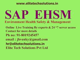 sap ehsm environment health safety management online