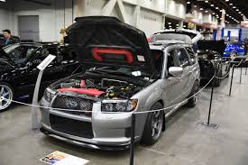 custom subaru forester presenting the gray goose 2007 subaru forester sti 500whp full