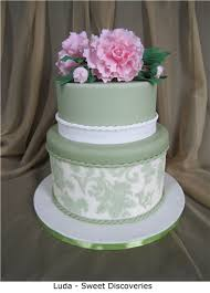 chic rose cake stencil border