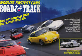world u0027s fastest car 1987 road u0026 track mag porsche cars history