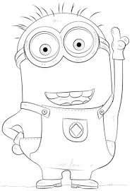 minion phil coloring free printable coloring pages