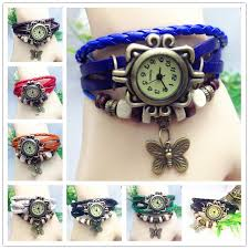 bangle bracelet watches images Luxury vintage women bracelets watches hand made weave leather jpg