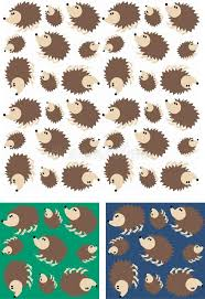 hedgehog wrapping paper hedgehog pattern seamless stock vector illustration of fabric