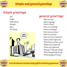 simple greetings and general greetings conversation basics