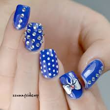 ssunnysideup bow and jewels nails