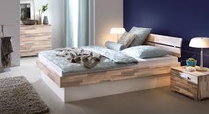 Schlafzimmer Bett Sandeiche Bett Mit Berbau Massives Doppelbett Aus Akazie Ancona Bettende