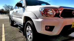 nerf car 2015 toyota tacoma double cab super white w n fab nerf bar side
