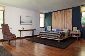décoration mur chambre à coucher design interieur chambre coucher moderne déco murale bois parquet