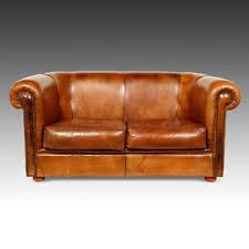 Cigar Lounge Chairs Antiqued Dutch Leather Library Cigar Club Lounge Arm Chair Sofa