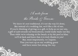 wedding gift list poems wedding gift list honeymoon imbusy for
