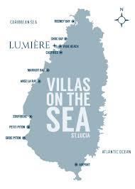 Saint Lucia Map Lumière