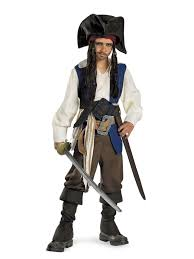 Captain Hook Halloween Costume Captain Jack Sparrow Deluxe Child Costume Jack Sparrow
