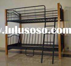 wooden bunk beds with futon