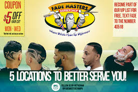 get 5 off first haircut all locations fade masters barber shop