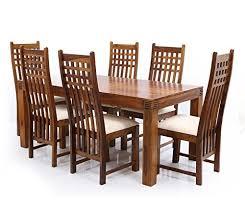 six seater dining table six seater dining table set in sheesham wood brown pharneechar
