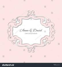 Wedding Invitation Card Samples Wedding Invitation Card Template Laser Cutting Stock Vector